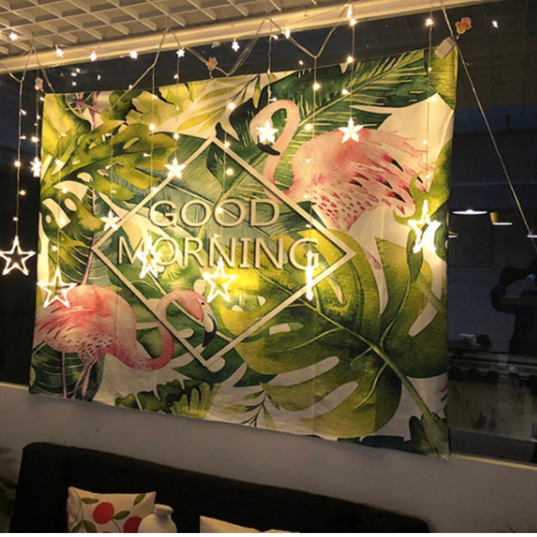 北歐芭蕉葉掛毯掛布ins背景布韓國裝飾房間壁毯床頭牆壁掛裝飾畫