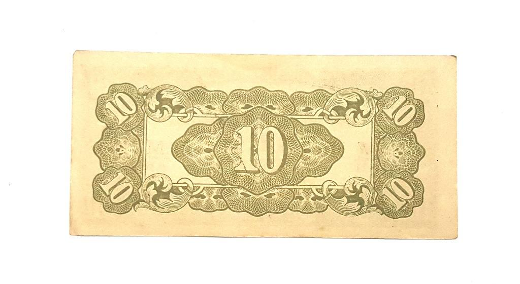 Japanese Occupation 10 cent currency