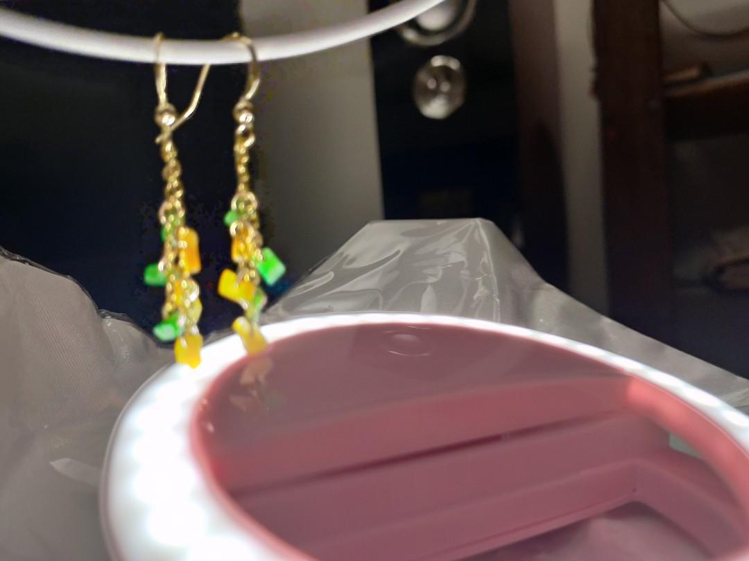 K金翡翠耳環便宜出售