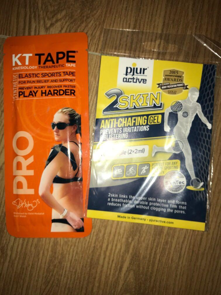 kinesiology therapeutic tape elastic sports tape. anti-chafing gel