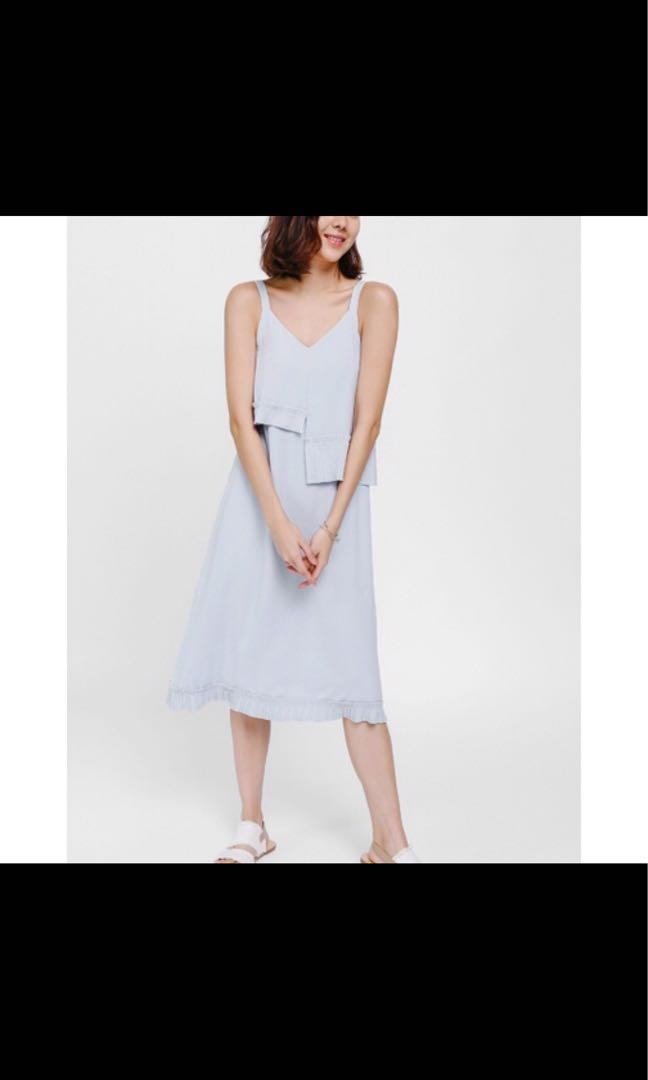 Lovebonito Petriana pleated Hem midi dress