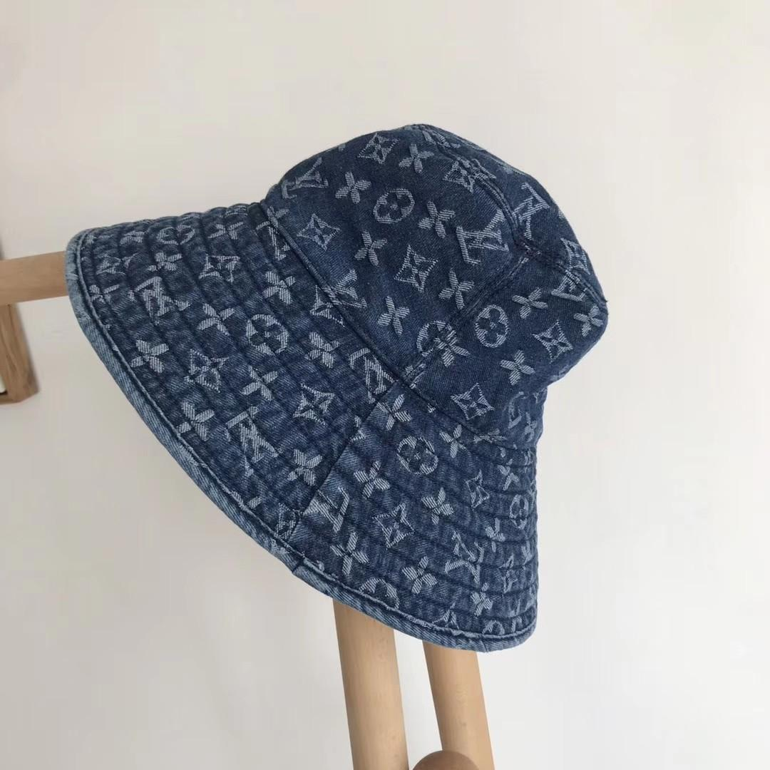 Lv denim hat