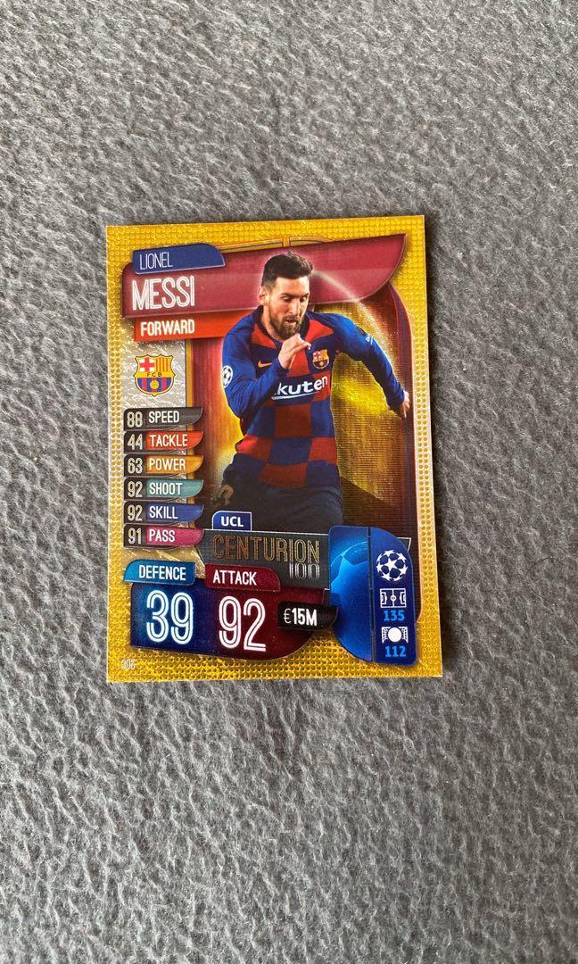 MATCH ATTAX Lionel Messi centurion edition 19/20