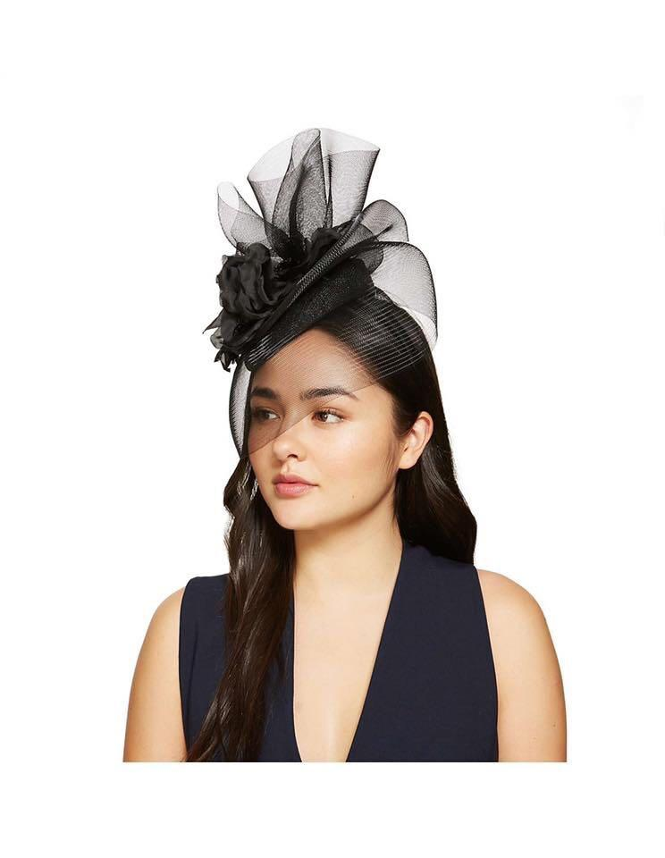 Mimco Black Ignition Fascinator RRP $229 New With Tags