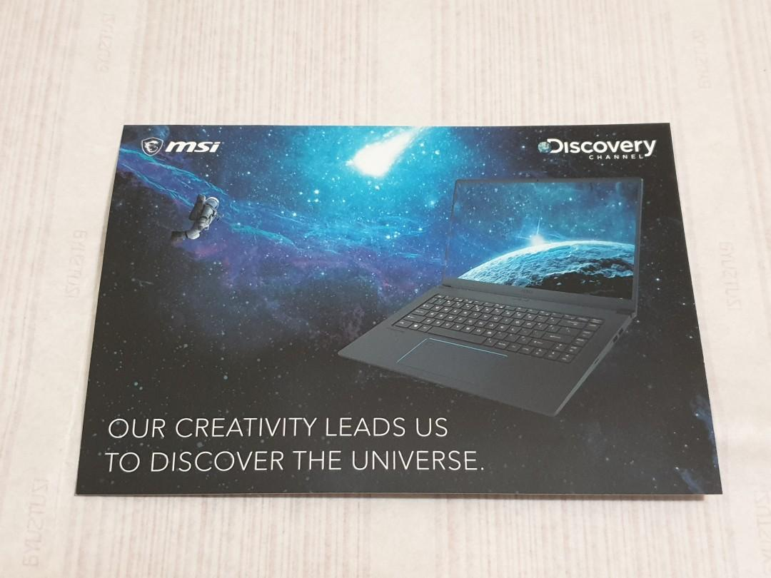 msi Discovery 明信片 貼紙