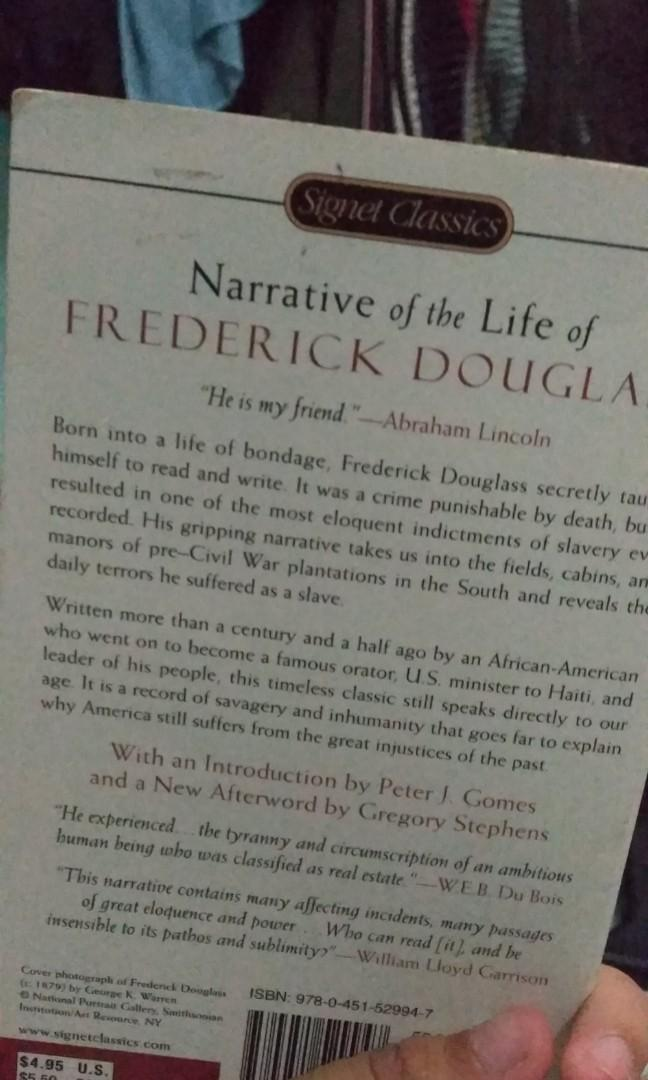Narrative of the Life of Frederick Douglass (An American Slave) - Autobiography