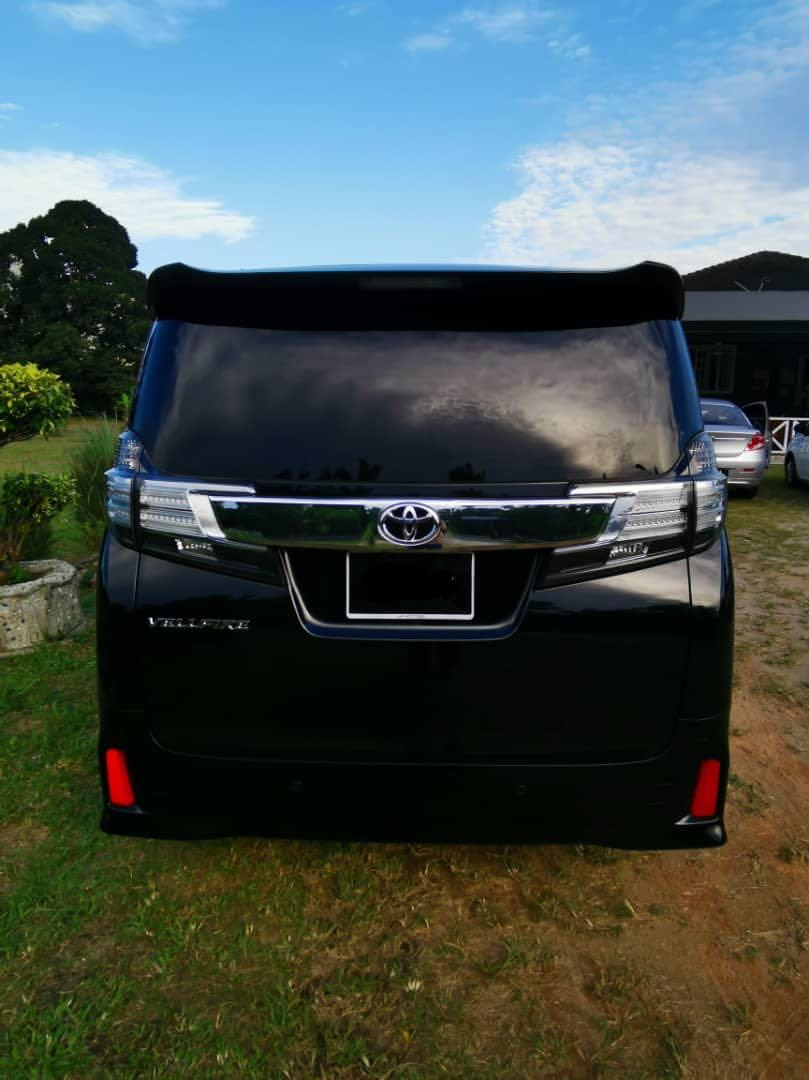 New Toyota Vellfire Facelift for RENT