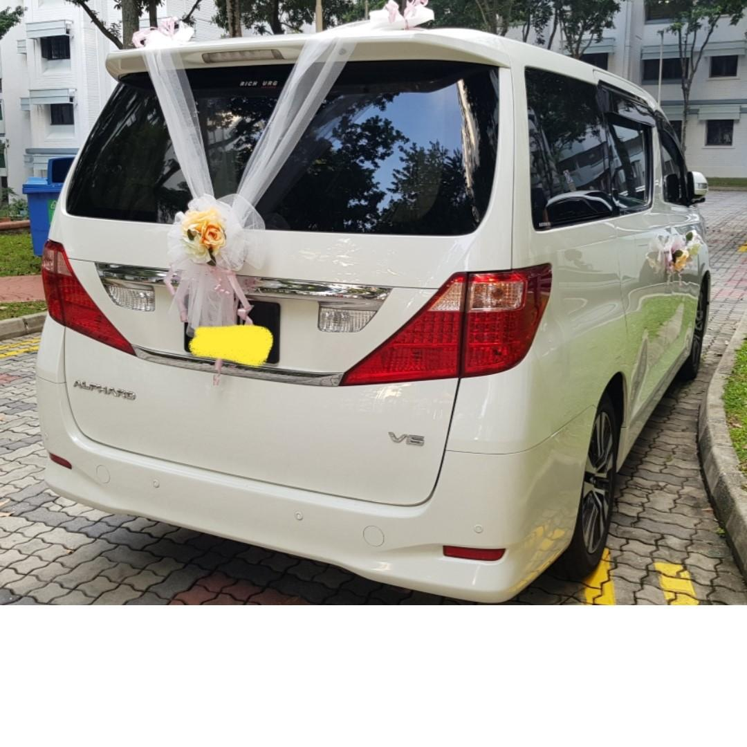 ONLY 1 in Singapore for rent, Luxury 1st RAFFLES CLASS  Alphard Royal Lounge Rental with Driver Wedding LIMOUSINE Car Event Car, Fit for King,bride,bridal,donnie yen, VVIP