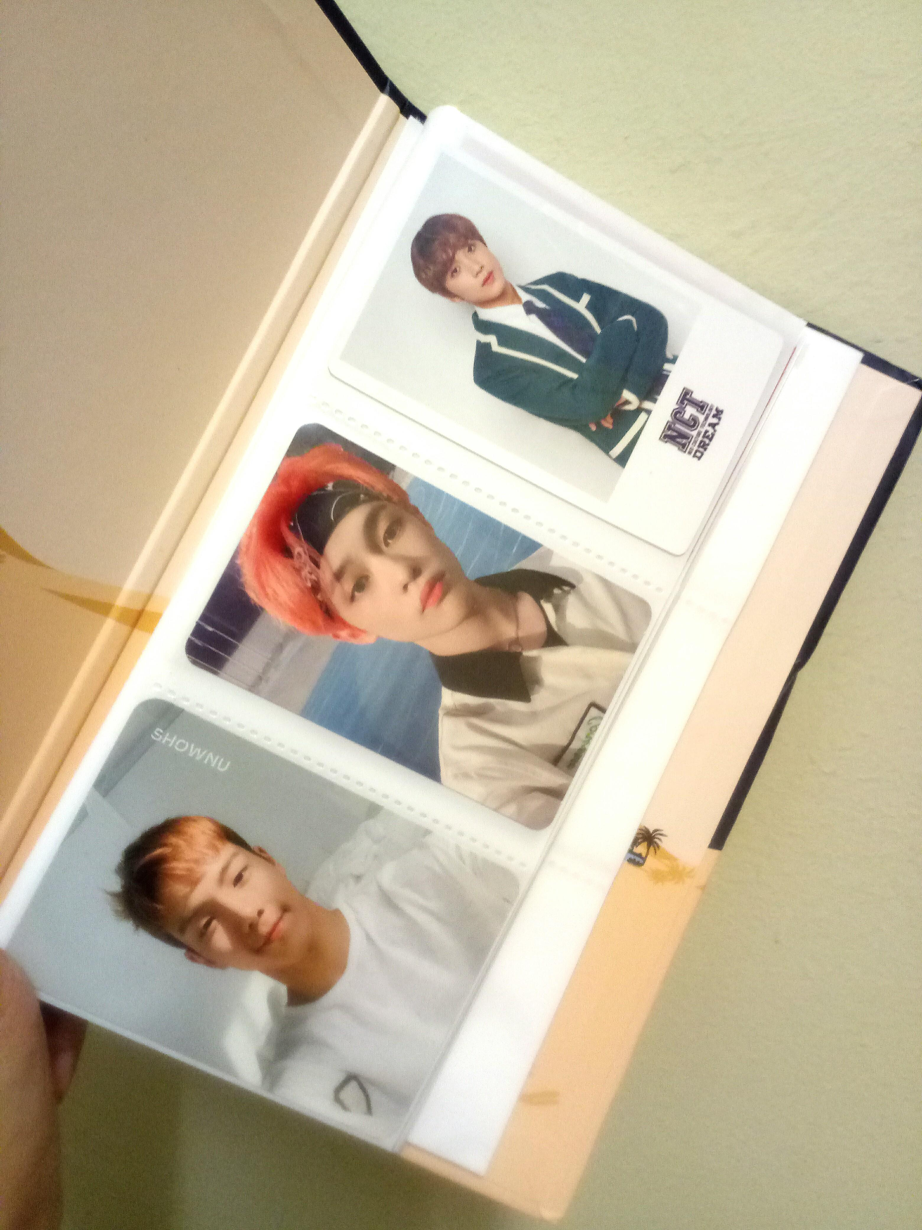 Photocard album/ polaroid album monsta x nct exo got7 bts
