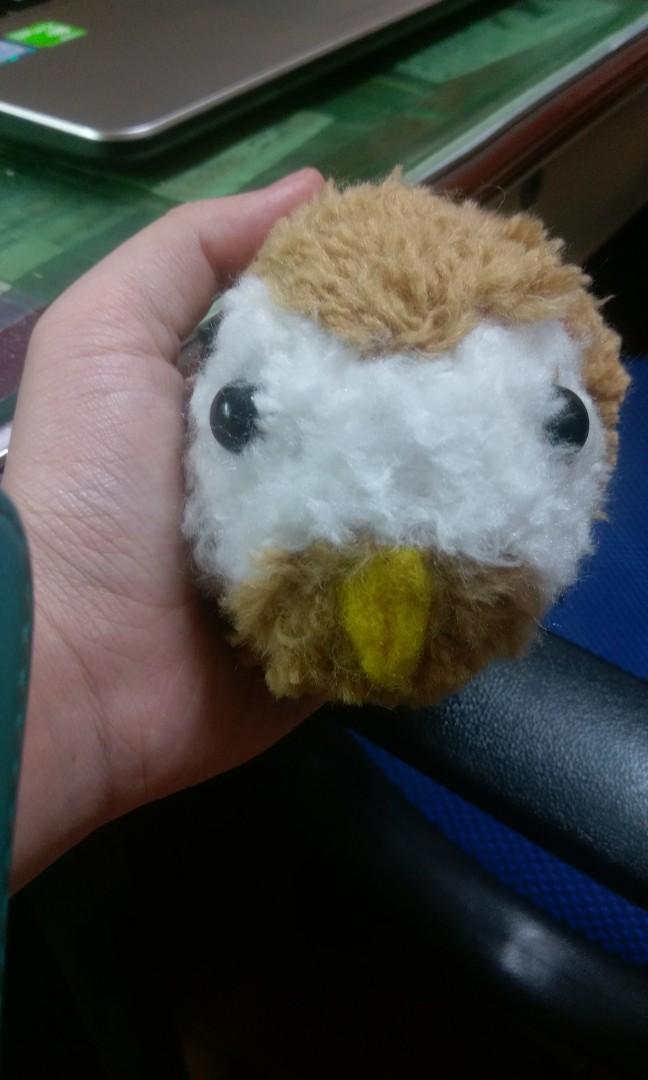 Pompom毛線球動物娃娃-貓頭鷹