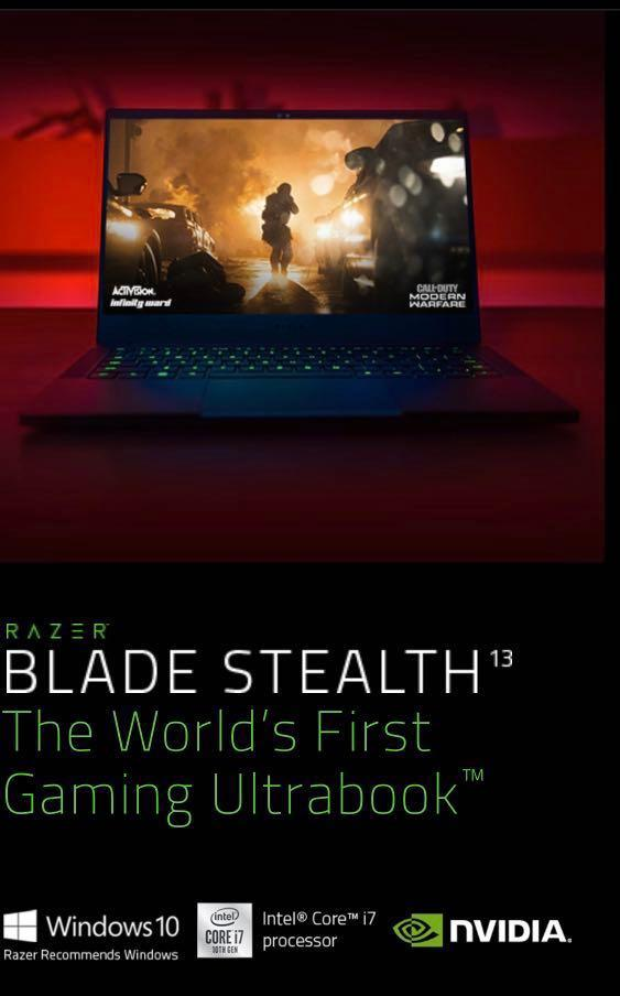 Razer Blade 15 GTX 1660Ti  🔺9th Generation intel i7-9750H/ FHD-60Hz/128GB SSD+1 TB HHD
