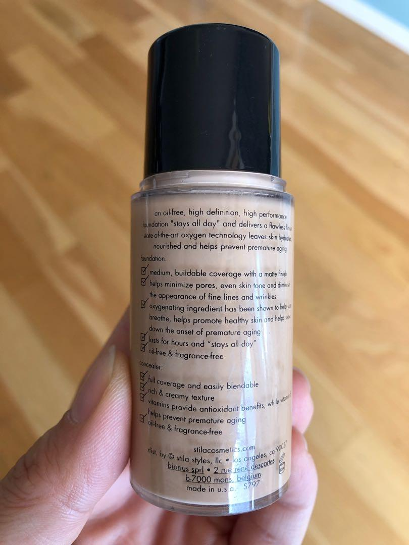 Stila Stay All Day Foundation & concealer (colour Hue) almost new (RRP $61)