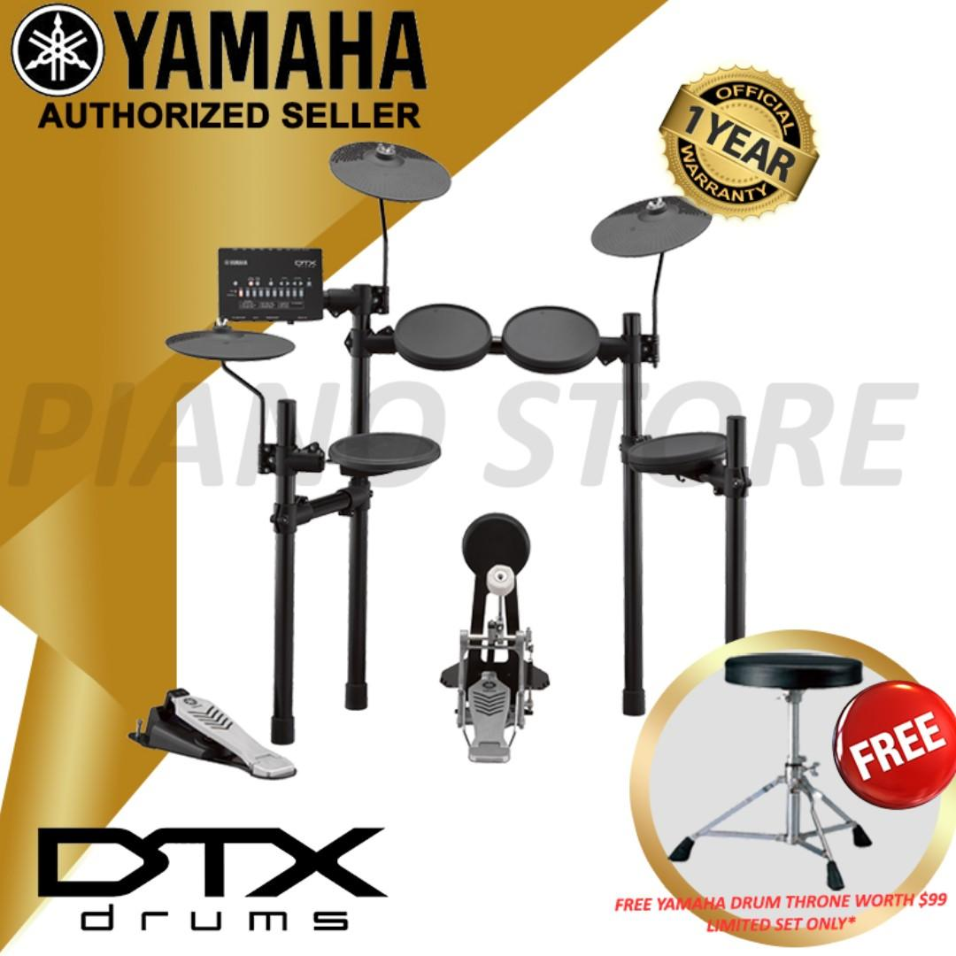 THE PIANIST STUDIO - Yamaha DTX Electronic Drum DTX452K Singapore Sale NOW with Free Yamaha Drum Throne Stool DS550U