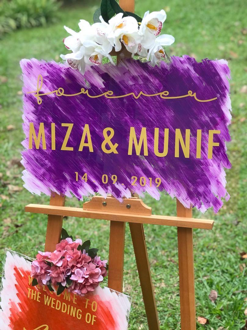 Wedding Board + Stand