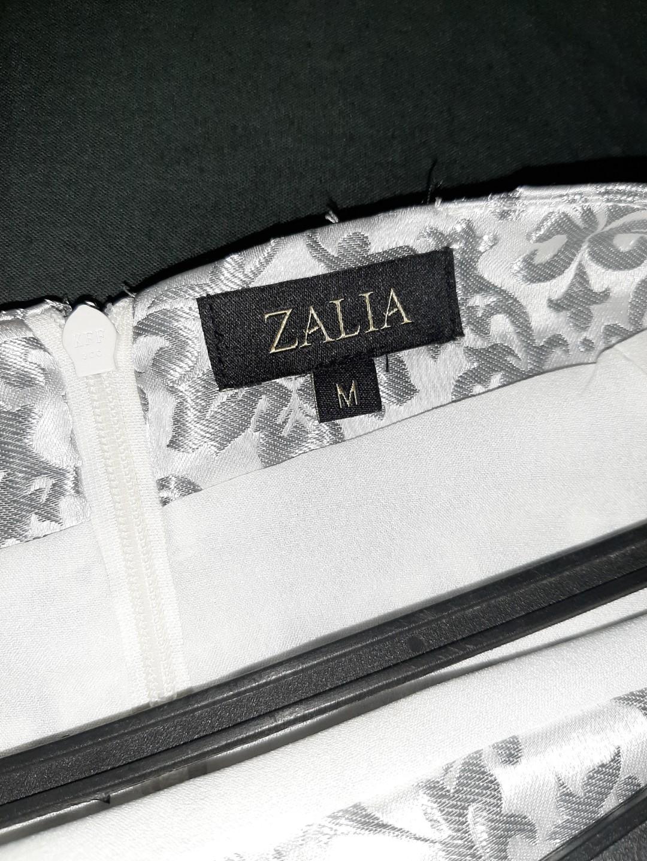 Zalia Boat Neck Silver Jacquad Peplum Set