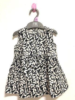 Dress bayi hitam putih