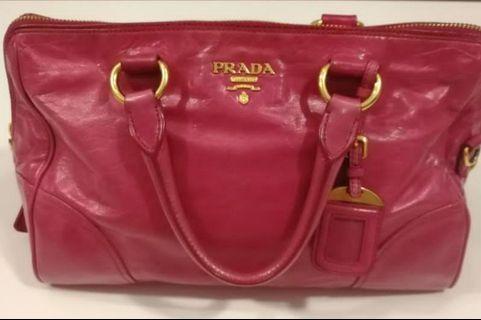 Mark down!! Authentic Prada leather handbag