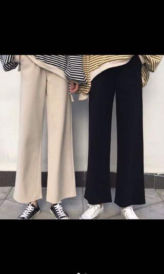 #剁手時尚 秋季韓版杏色直筒寬褲