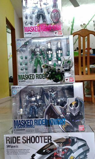 4x Shf Kamen Rider Ryuki Series Raia Zolda Knight Ride Shooter