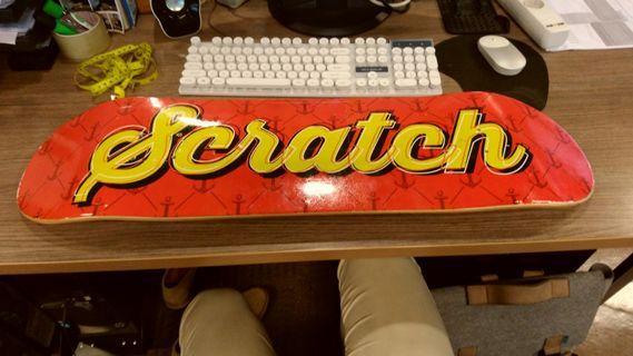 skateboard deck papan skateboard SCRATCH 8,125 inci