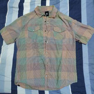 澳洲 潮牌 insight 格紋 彩虹 彩色 短袖 襯衫