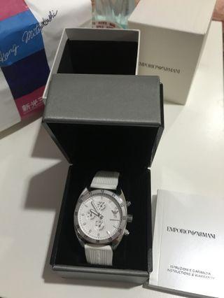 Armani 三眼錶 九成新 專櫃購入