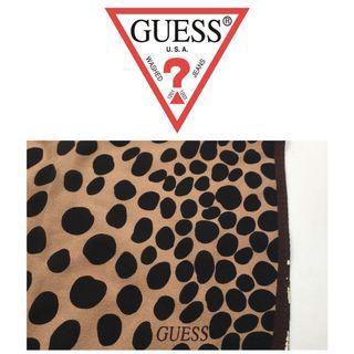 美國GUESS 豹紋絲巾