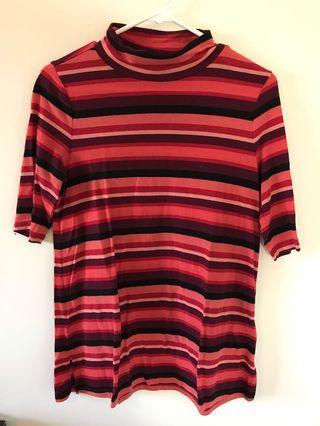 LOFT Striped Mock Neck Shirt - Size S - #SwapCA