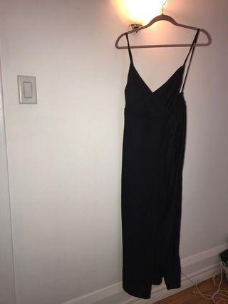 Zara wrap dress (dark navy colour