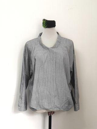 L size stripes blouse top