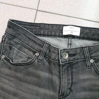 彈性超好 牛仔刷色 灰色 緊身褲 牛仔褲
