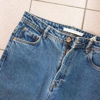zara 洗舊感 牛仔褲