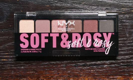 🆕 21% Off NYX PROFESSIONAL Soft & Rosy Eyeshadow Palette