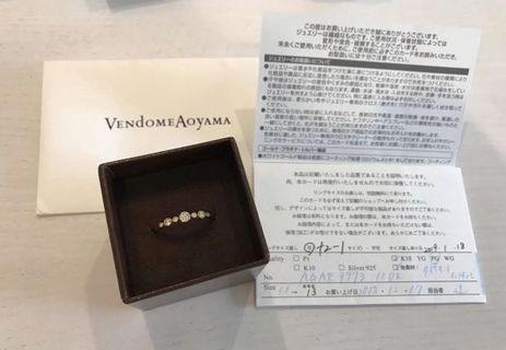 vendome aoyama(k18真鑽0.14鑽石)戒指