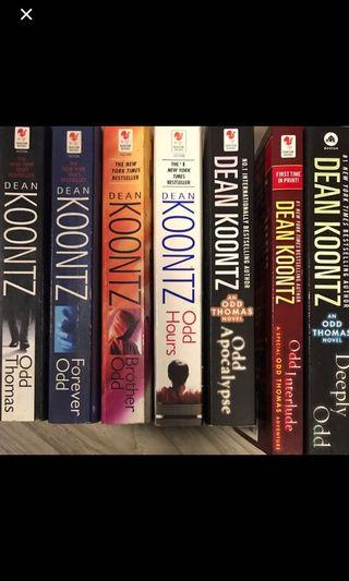 Books by Dean Koontz, Stephen King and Charlaine Harris