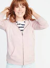 Old Navy Relaxed Zip Hoodie Baby Pink