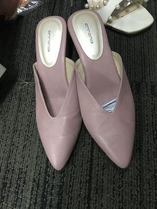 Mules nude pink