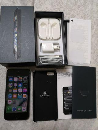 iPhone5 32G手機付LANVIN保護殻有保護貼