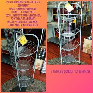 4 Layer Round Basket Tray Display