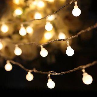 插電款小彩燈閃燈,可遙控,10米100燈,暖黃光/四彩燈各一
