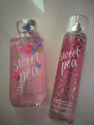 Sweet pea bath and body works