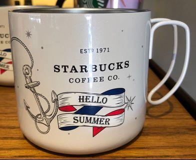 [星巴克]哈囉夏日不鏽鋼把手杯