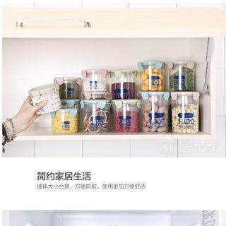 1000ML 大 保鮮罐 密封罐 雜糧罐 儲物罐 家居 食品收納罐 塑膠密封罐 收納罐 保鮮罐 保鮮盒