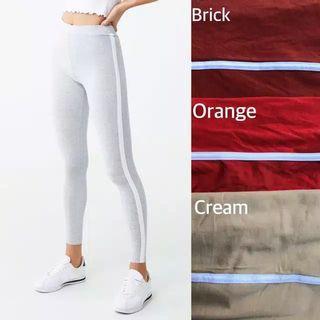 Forever21 Contrast-Trim High-Waisted Leggings