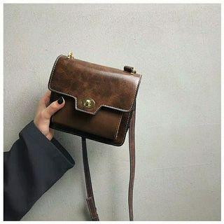 Brown vintage bag import ( bukan lokal)