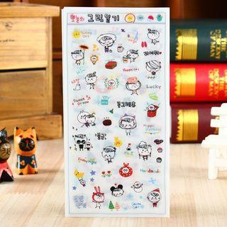 Rangcat Today Diary Deco Stickers