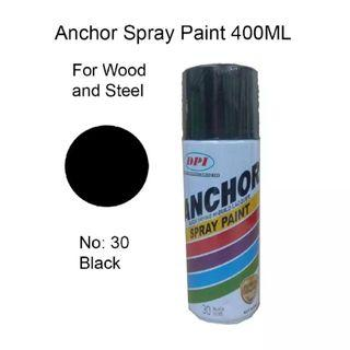 2 Bottle Anchor Colour Spray 400ML - Clear & Black #letgo50