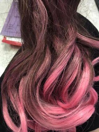 Hairclip Ombre pink