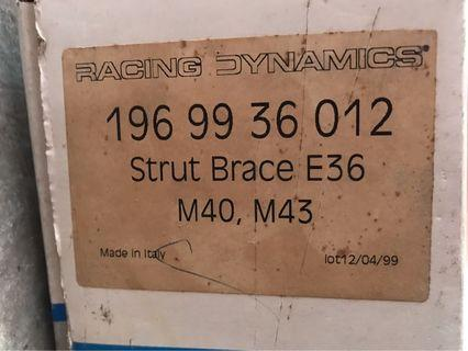 Racing Dynamics front Strut Brace for BMW 3 Series E36 4cyl