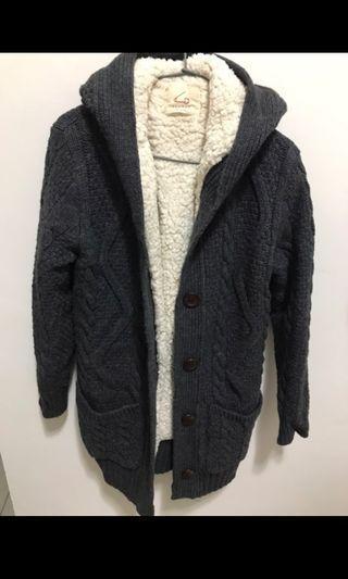 韓製🇰🇷超厚針織毛料外套罩衫